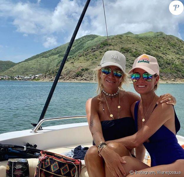 Liliane Jossua et Laeticia Hallyday à Saint-Barthélémy- Instagram- 29 août 2019.