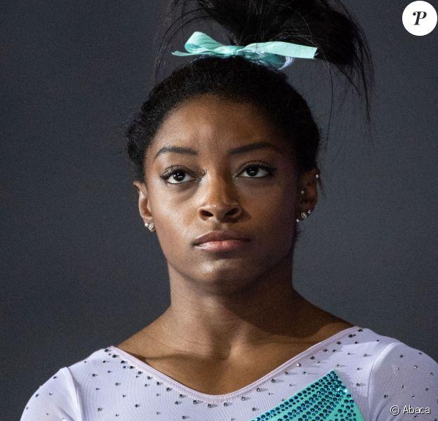 Simone Biles lors des Championnats des Etats-Unis de gymnastique en août 2019 à Kansas City.