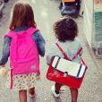 Amel Bent a photographié ses filles Sofia et Hana le jour de la rentrée, le 2 septembre 2019.