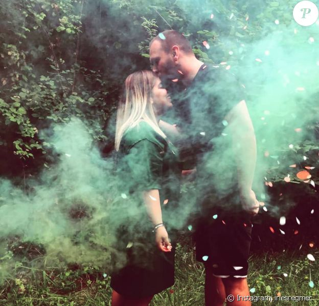 Inès Reg et son mari Kévin sur Instagram.