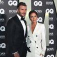 """David Beckham et Victoria Beckham, accompagnés de leur fils Brooklyn Beckham ont participé à la soirée """"GQ Men of the Year"""" Awards à Londres le 3 septembre 2019."""