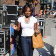 """Serena Williams, lors du """"Late Show with David Letterman"""", au Ed Sullivan Theatre de New York, le 6 juillet 2009 !"""