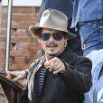 Johnny Depp quitte le 76ème Festival International du Film de Venise (Mostra), le 7 septembre 2019.