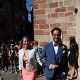 Ségolène Royal - Mariage de Thomas Hollande et de la journaliste Emilie Broussouloux à la mairie à Meyssac en Corrèze près de Brive, ville d'Emilie. Le 8 Septembre 2018. © Patrick Bernard-Guillaume Collet / Bestimage