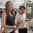 Angelina Jolie dépose son fils aîné Maddox (18 ans) à l'Université de Yonsei en Corée du Sud, le 21 août 2019.