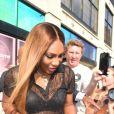 Serena Williams à la sortie du défilé Prêt à porter Serena Williams Printemps/Eté 2020 lors de la Fashion Week de New York City, New York, Etats-Unis, le 10 septembre 2019.