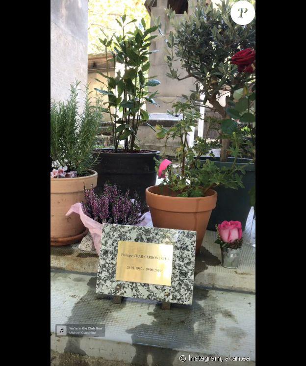 Angelica, la fille de Zdar, se rend sur sa tombe- 11 septembre 2019.