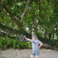 Exclusif - Pierre-Jean Chalençon passe ses vacances aux Seychelles le 29 juillet 2019.