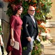 Demi Moore et Eric Buterbaugh - Sorties après la cérémonie de mariage de la princesse Eugenie d'York et Jack Brooksbank en la chapelle Saint-George au château de Windsor, Royaume Uni, le 12 octobre 2018.