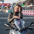 Alessandra Sublet, qui a récemment passé son permis Moto, a assisté pour la première fois à la 42e édition des 24 Heures Motos ce week-end. Après être venue de Paris en moto, elle a pu découvrir les coulisses de cet événement. Son programme a été intense : baptême de piste sur le circuit Bugatti, parade, rencontre de l'équipage 100% féminin (le Girls Racing Team avec notamment la jeune M. Coignard) et de Lil'Viber qui a participé à la Women's Cup. Elle a également pu passer des nombreux moments avec les spectateurs venus en nombre ou encore assister à un relais de nuit dans le team Suzuki. Le Mans du 19 au 20 Avril 2019. © Cyril Moreau / Bestimage