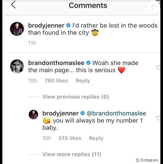 Brody Jenner affiche sa nouvelle petite amie Josie Canseco sur Instagram (septembre 2019).
