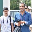 Romeo Beckham arrive pour la deuxième journée du tournoi de tennis 'Wimbledon' à Londres au Royaume-Uni, le 2 juillet 2019.