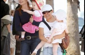 Marcia Cross et ses fillettes sont très souriantes... Une bonne nouvelle ?
