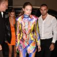 Gigi Hadid et sa soeur Bella Hadid - Arrivée des people à l'after-party du défilé Versace Collection Prêt-à-Porter Printemps/Eté 2020 lors de la Fashion Week de Milan, le 20 septembre 2019.