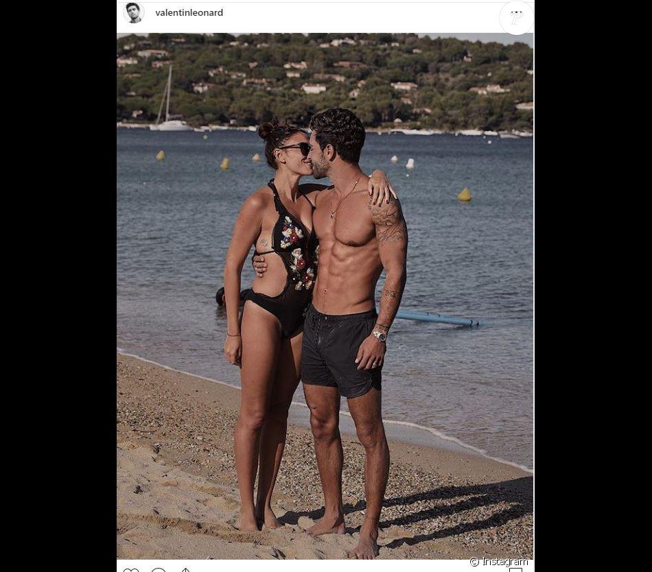Rachel Legrain Trapani et Valentin Léonard en couple sur Instagram (septembre 2019).