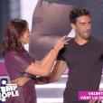Valentin Léonard débarque par surprise dans TPMP pour Rachel Legrain-Trapani, sur C8, le vendredi 6 septembre 2019.