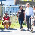 Le prince Harry et Meghan Markle, duchesse de Sussex, le 23 septembre 2019 au Cap en Afrique du Sud, lors de la première journée de leur visite officielle. Ils ont découvert dans le township Nyanga l'associatin Justice Desk, qui apprend aux enfants leurs droits et les aide à assurer leur sécurité. Elle propose des cours d'auto-defense et une formation à l'autonomie des femmes pour les jeunes filles de la communauté.
