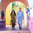 """Le prince Harry et Meghan Markle, en robe longue Staud, lors des célébrations de la fête du patrimoine dans le quartier de Bo Kaap dit """"Cape Malay"""" au Cap, Afrique du Sud, le 24 septembre 2019."""
