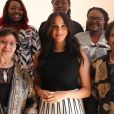 """Meghan Markle, duchesse de Sussex (en jupe J.Crew), lors du petit-déjeuner """"Women in Public Service"""" à Cape Town. Le 28 septembre 2019"""