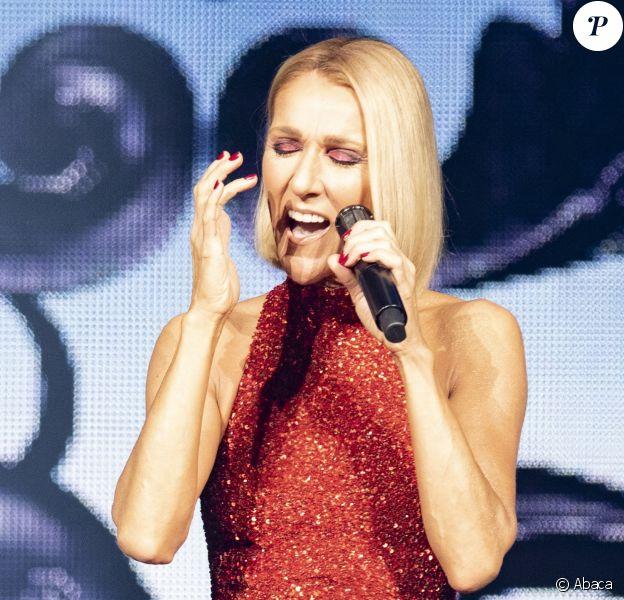 Celine Dion lors du Courage World Tour, le 18 septembre 2019 au Vidéotron de Québec.