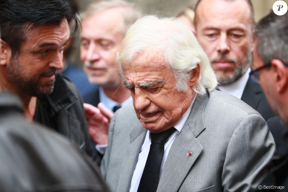 Jean-Paul Belmondo - Obsèques de Charles Gérard en la cathédrale arménienne Saint-Jean-Baptiste de Paris le 25 septembre 2019.