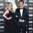 """Michael Sheen et sa compagne Anna Lundberg - Photocall de la soirée """"GQ Men of the Year"""" Awards à Londres le 3 septembre 2019."""