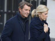 Michèle Laroque en soutien de François Baroin aux obsèques de Jacques Chirac