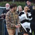 Dua Lipa et son compagnon Anwar Hadid - Arrivée des people au défilé Burberry 2019 lors de la fashion week à Londres, le 16 septembre 2019.
