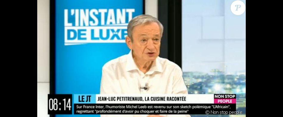 """Jean-Luc Petitrenaud invité de l'émission """"L'Instant de luxe"""" sur la chaîne Non stop people le 3 octobre 2019."""