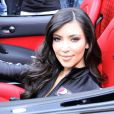 Kim Kardashian donne le départ du PepsiMax Bullrun 2009 à New York City