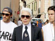 Quand Karl Lagerfeld est à Saint-Tropez, il change tout... et met sa tenue d'été ! Quelle incroyable transformation !