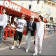 Karl Lagerfeld en vacances avec ses amis à Saint Tropez