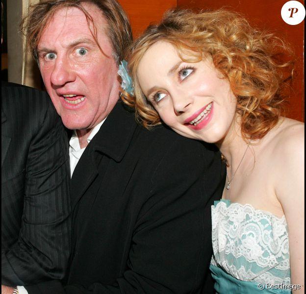 Julie Depardieu et son père- Cérémonie des César en février 2005- Paris.