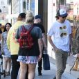Exclusif - Mischa Barton et son compagnon James Abercrombie sont allés faire du shopping chez Christian Dior à Los Angeles, le 2 octobre 2019.