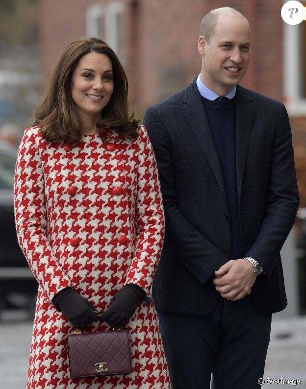 Catherine Kate Middleton (enceinte), le prince William - Arrivées à l'Institut Karolinska à Stockholm. Le 31 janvier 2018