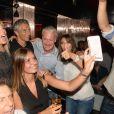 Didier Deschamps fête sa victoire avec sa femme Claude, Nagui et sa femme Mélanie Page et des amis à la Gioia et au VIP Room à Saint-Tropez, le 21 juillet 2018. © Rachid Bellak/Bestimage