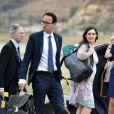 Rebecca Deacon, secrétaire particulière de la duchesse et Sophie Agnew, assistante de la secrétaire particulière de la duchesse - Le personnel du prince William et de Kate Middleton à son arrivée à l'aéroport de Paro au Bhoutan 14 avril 2016.