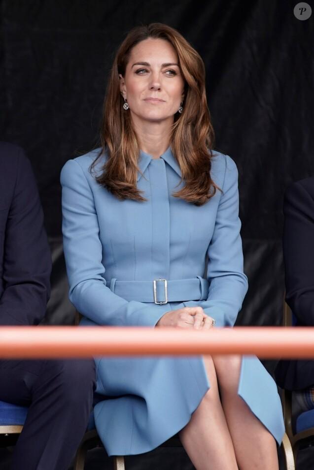 Catherine Kate Middleton, duchesse de Cambridge - Visite à Birkenhead avant la cérémonie de baptême du nouveau navire de recherche polaire britannique, RRS Sir David Attenborough le 26 septembre 2019