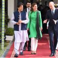 Catherine Kate Middleton, duchesse de Cambridge, le prince William, duc de Cambridge, Imran Khan, premier ministre du Pakistan - Le duc et la duchesse de Cambridge lors d'une visite chez le premier ministre du Pakistan à Islamabad le 15 octobre 2019.