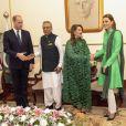 Le prince William, duc de Cambridge, Arif Alvi, président du Pakistan, Samina Alvi, la femme du président du Pakistan, Catherine Kate Middleton, duchesse de Cambridge - Le duc et la duchesse de Cambridge lors d'un rencontre avec le président du Pakistan à Islamabad le 15 octobre 2019.