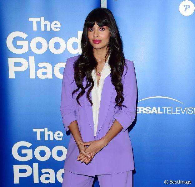 """Jameela Jamil à la soirée de présentation de la série """"The Good Place"""" à Los Angeles, le 17 juin 2019."""