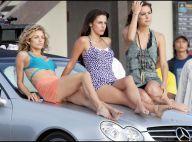 """Les trois beautés de """"90210"""", AnnaLynne McCord et ses copines, glamour toujours sur la plage..."""