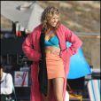 AnnaLynne McCord sur le tournage de Beverly Hills 90210