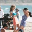 AnnaLynne McCord et Jessica Lowndes sur le tournage de Beverly Hills 90210
