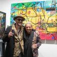 L'artiste Kongo (Cyril Phan) et Jack Nicolini (Las Noches Ibiza) - Vernissage de l'exposition de l'artiste l'artiste Kongo (Cyril Phan) au Montaigne Market à Paris le 17 octobre 2019. © Jerémy Melloul/ Bestimage