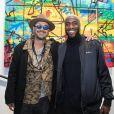 L'artiste Kongo (Cyril Phan) et Luc Abalo - Vernissage de l'exposition de l'artiste l'artiste Kongo (Cyril Phan) au Montaigne Market à Paris le 17 octobre 2019. © Jerémy Melloul/ Bestimage