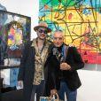 L'artiste Kongo (Cyril Phan) et Eric Cherki (Las Noches Ibiza) - Vernissage de l'exposition de l'artiste l'artiste Kongo (Cyril Phan) au Montaigne Market à Paris le 17 octobre 2019. © Jerémy Melloul/ Bestimage