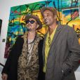 L'artiste Kongo (Cyril Phan) et Yannick Noah - Vernissage de l'exposition de l'artiste l'artiste Kongo (Cyril Phan) au Montaigne Market à Paris le 17 octobre 2019. © Jerémy Melloul/ Bestimage