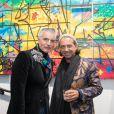 Eric Cherki et Jack Nicolini (Las Noches Ibiza) - Vernissage de l'exposition de l'artiste l'artiste Kongo (Cyril Phan) au Montaigne Market à Paris le 17 octobre 2019. © Jerémy Melloul/ Bestimage