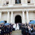 Mariage du prince Jean-Christophe Napoléon et de la comtesse Olympia d'Arco-Zinneberg à la cathédrale Saint-Louis des Invalides à Paris le 19 octobre 2019. © Dominique Jacovides / Bestimage